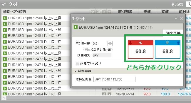 IG証券トレード画面